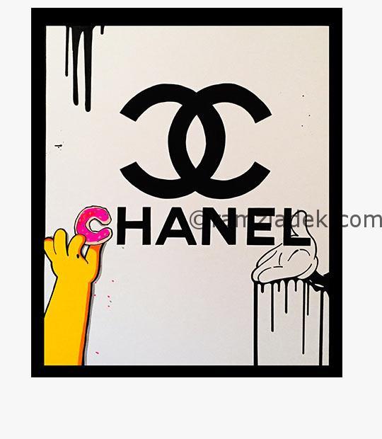 Chanel paint pop art