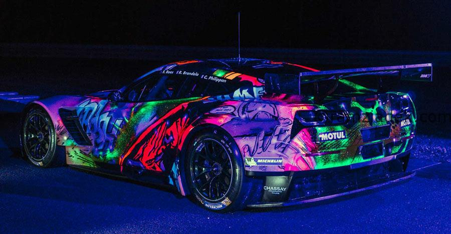 pop art fluo art car