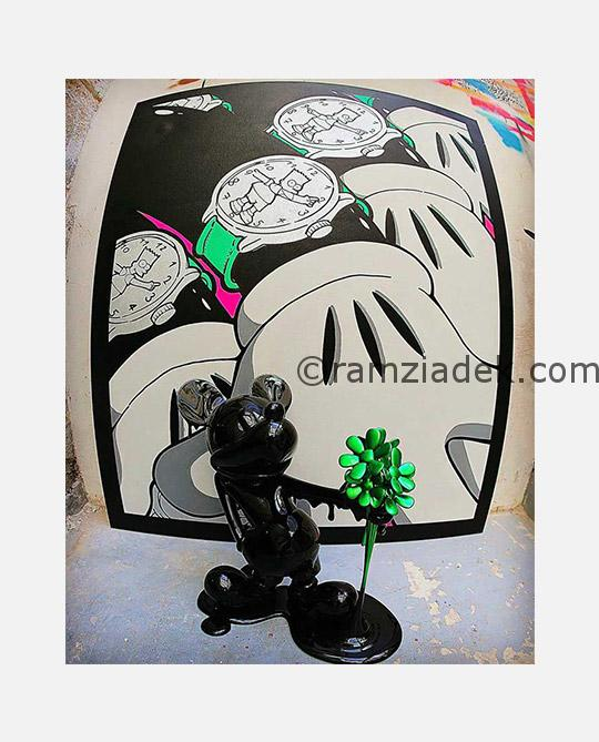 graffiti artist ramzi adek paint